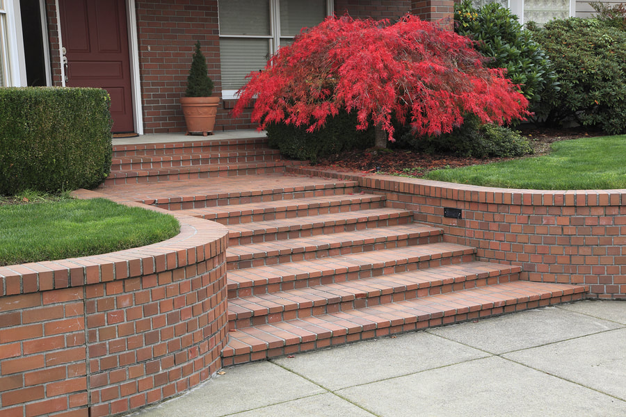 completed concrete steps project